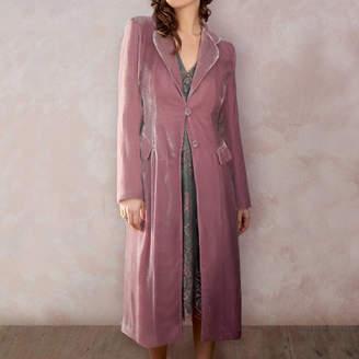 Sweet Pea Nancy Mac Vivienne Dress Coat In Silk Velvet