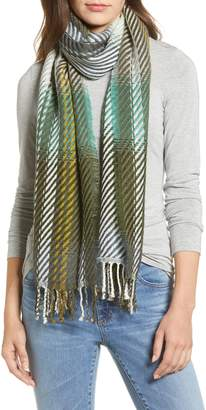 Echo Ombre Plaid Twill Scarf