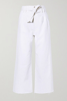 J Brand Belted High-rise Wide-leg Jeans - White