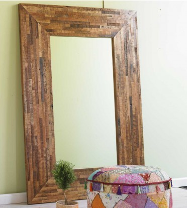 Douglas Fir Trimmings Floor Mirror