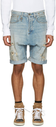 R13 Blue Denim Ian Shorts $325 thestylecure.com