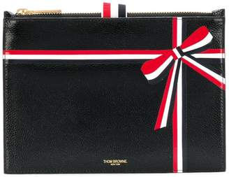 Thom Browne large ribbon-detail coin purse
