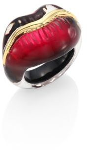 Alexis Bittar Lucite Lip Ring $175 thestylecure.com