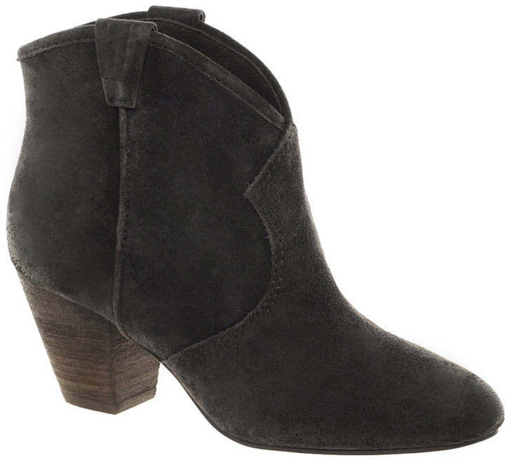 Ash Jalouse Suede Mid Heel Ankle Boots