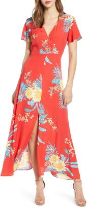 Leith Surplice Maxi Dress