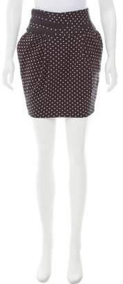 Elizabeth and James Polka Dot Mini Skirt