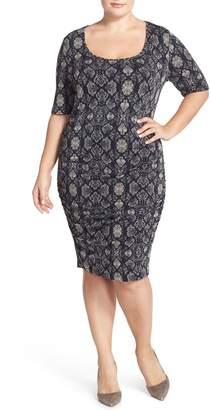Tart 'Jasmin' Back Cutout Snakeskin Print French Terry Body-Con Dress