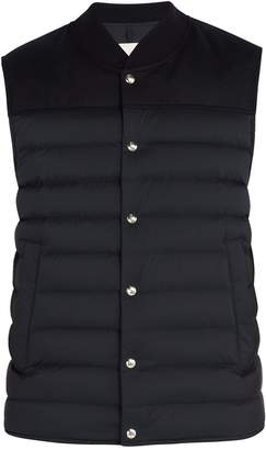 Moncler Down-quilted nylon and wool gilet
