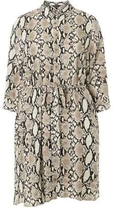 Dorothy Perkins Womens **DP Curve Snake Print Long Sleeve Shirt Dress