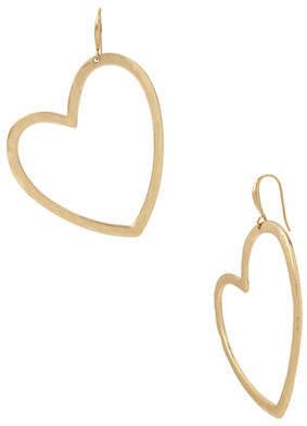 Robert Lee Morris SOHO Heart Hammered Gypsy Drop Earrings