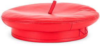 Ruslan Baginskiy Leather Cap in Red | FWRD