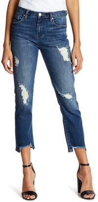 Blank NYC BLANKNYC High Rise Distressed Straight Leg Jeans
