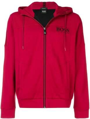 HUGO BOSS contrast zip hoodie