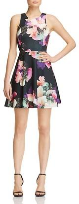 AQUA Neon Floral Scuba Dress - 100% Exclusive $78 thestylecure.com
