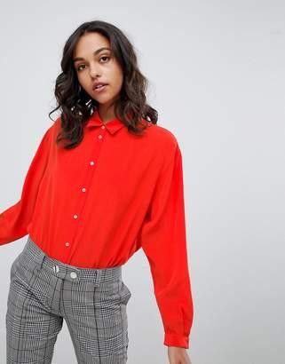 Boss Casual red silk shirt