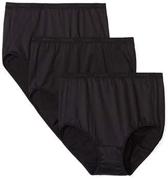Arabella Women's Plus Size Microfiber Brief Panty