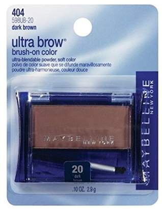 Maybelline New York Ultra-brow Brow Powder, 20 Dark Brown, 0.1 Ounce, Pack of 2