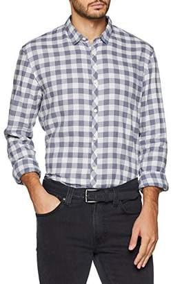 Tom Tailor Men's Freizeit Hemd Mit Langenärmeln Und Vichy Karo Casual Shirt,XL