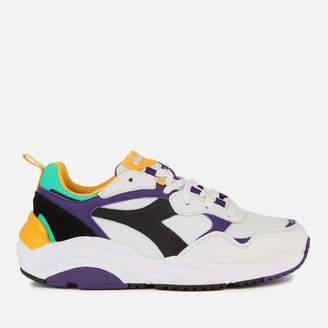 Diadora Whizz Run Trainers - White/Black/Mulberry Purple