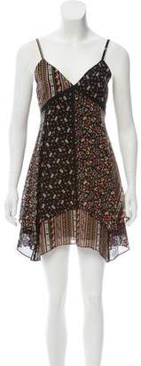 Alice + Olivia Patchwork Floral Mini Dress