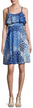 Plenty by Tracy Reese Women's Printed Flounce Tank Dress