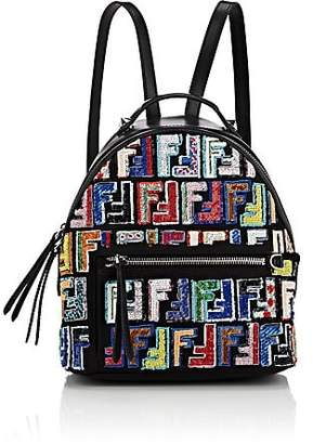 Fendi Women's Sequined Mini Backpack - Black