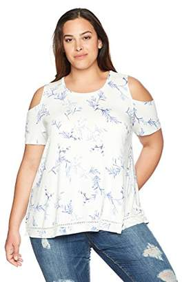 Lysse Women's Size Plus Mira Cold Shoulder Top