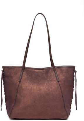 Lucky Brand Nela Floral Suede Tote