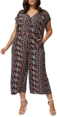 Dex Plus Wide-Leg Belted Jumpsuit