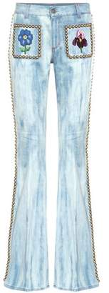 Gucci Embellished flared jeans