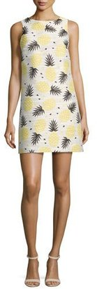 Alice + Olivia Clyde Pineapple-Print Shift Dress, Multi $285 thestylecure.com