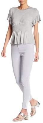 Romeo & Juliet Couture Skinny Seersucker Pants
