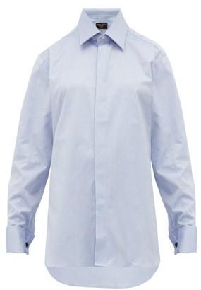 Emma Willis French Cuffed Cotton Oxford Shirt - Womens - Dark Blue