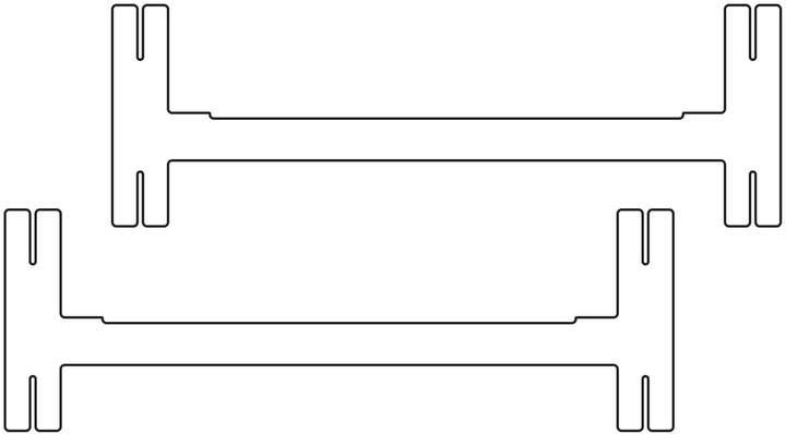 Kaether & Weise Plattenbau, Weiß - Mittel-Traverse 40cm (2er Set)