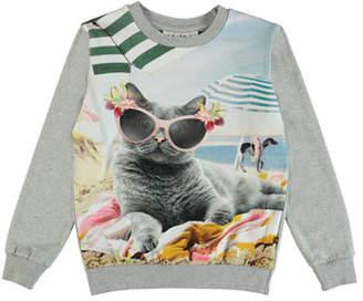 Molo Regine Beach Cat Graphic Tee, Size 2-10
