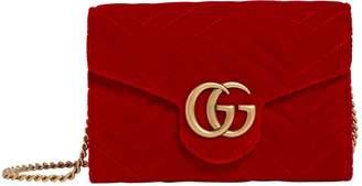 Gucci Velvet Marmont Matelasse Wallet Bag
