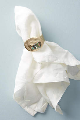Anthropologie Forged Abalone Napkin Ring