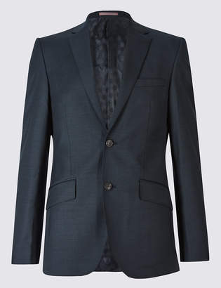 M&S Collection LuxuryMarks and Spencer Big & Tall Navy Tailored Fit Wool Jacket