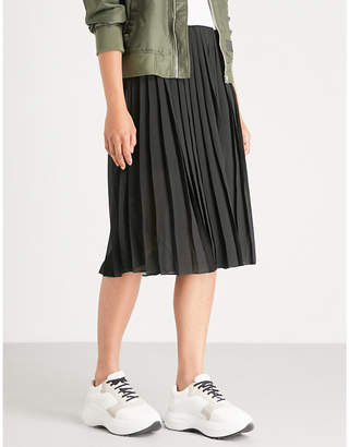 Musium Pleated chiffon midi skirt
