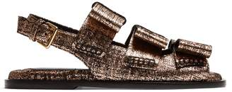 Marni Bow-detail leather slingback sandals