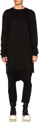 Rick Owens Long Sleeve Funnel Neck Top $1,601 thestylecure.com