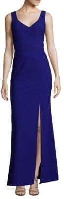 JS Collections Sleeveless High-Slit Dress