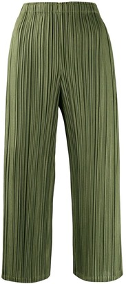 Pleats Please Issey Miyake high waisted palazzo pants
