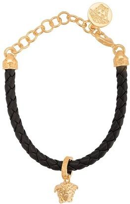 Versace braided Medusa charm bracelet