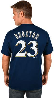 Majestic Men's Milwaukee Brewers Keon Broxton Name and Number Tee
