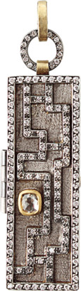 ANNIE FENSTERSTOCK Mixed-Metal and Diamond Maze Locket Pendant