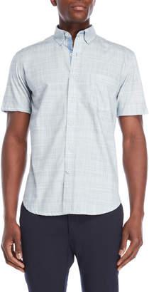English Laundry Con.Struct Grey Hybrid Short Sleeve Shirt