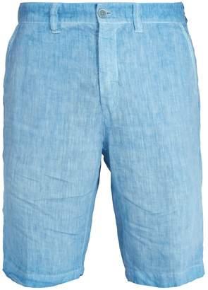 120% Lino 120 LINO Mid-rise straight-leg linen shorts