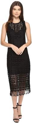 Laundry by Shelli Segal Sleeveless Dress w/ Fringe Hem Women's Dress