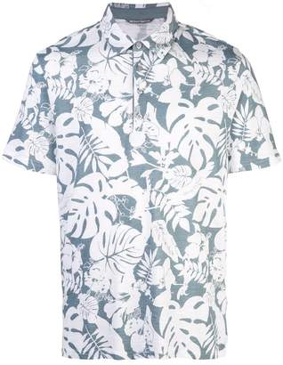 Michael Bastian monstera-print polo shirt